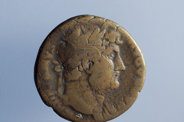Dupondio del emperador Adriano